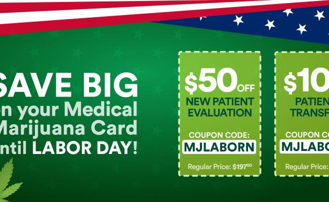 Labor Day Sale on Medical Marijuana Cards